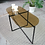 Coffee table with black steel legs lifestyle shot
