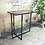 Side table with asymmetric black steel legs lifestyle shot