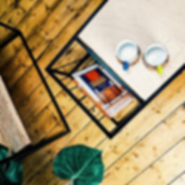 Coffee table and chair lifestyle image