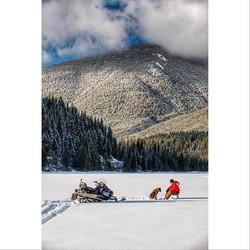 Al and Yogi ice fishing. Michael Bednar photo