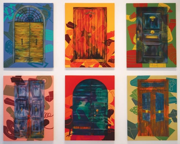 어떤 습관(Doors)_각 65.1x50cm, Oil and Acrylic on canvas, 2015_보정