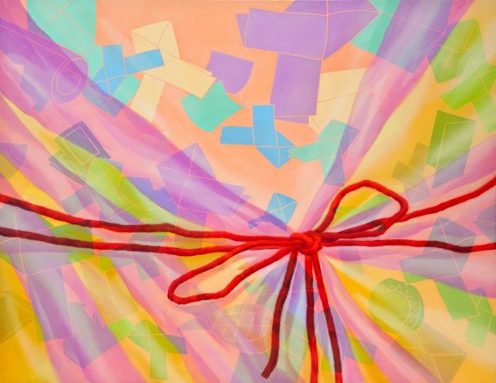 어떤습관(포장하다)-112.1x145.5cm Oil and acrylic on canvas , 2010