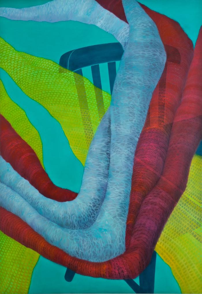 따뜻한 외로움-162.2 x 112.1cm  Oil and acrylic on canvas, 2010