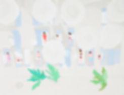 나무 세 그루-재단예정, 69x91cm, 장지에 채색, 2019, 150