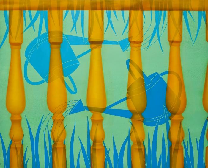 The garden-130.3 x 162.2cm  Oil and acrylic on canvas, 2010
