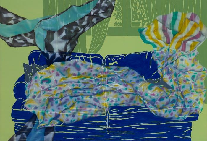 아늑한 위로_80.3x116.7cm, Oil and Acrylic on canvas, 2015