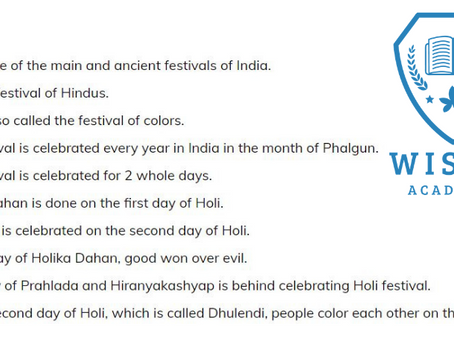10 Lines On Holi Festival In English