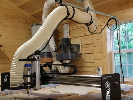 """CNC 4"""" Dust Hose Control! (Revision 2)"""