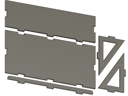 French Cleat Shelf - Design Files for CNC - Fusion360 - Parameterized
