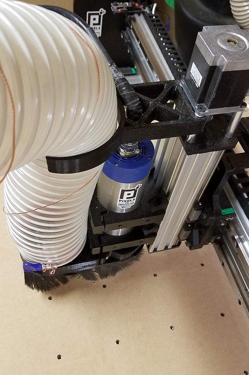 """CNC Z Axis Dust Hose Mount for 4"""" Dust Hose NEMA23 Lead CNC"""