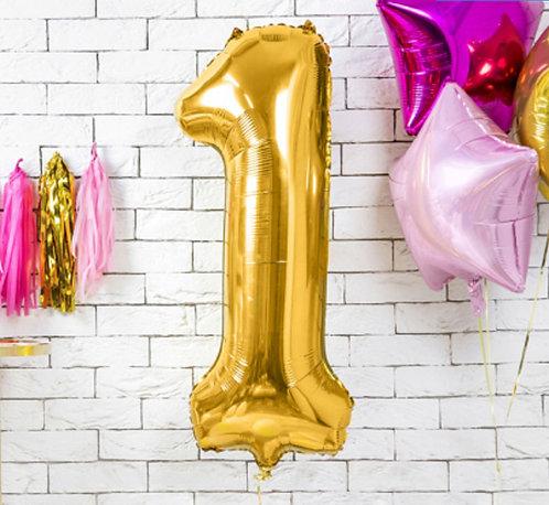 "Folienballon ""1"", gold"
