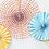 Faltrosetten, Dekofächer, Paper Fans, Pastell, Honeycombs, Hängedekoration, Papierfächer