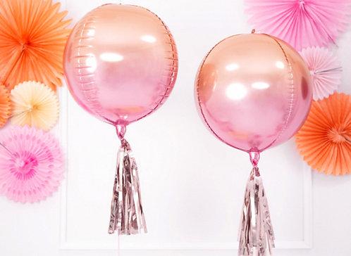Folienballon, Riesenballon, Heliumballon, glänzend, runder Ballon, Helium