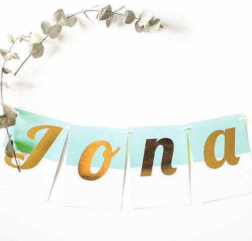 Buchstaben-Girlande, personalisiert