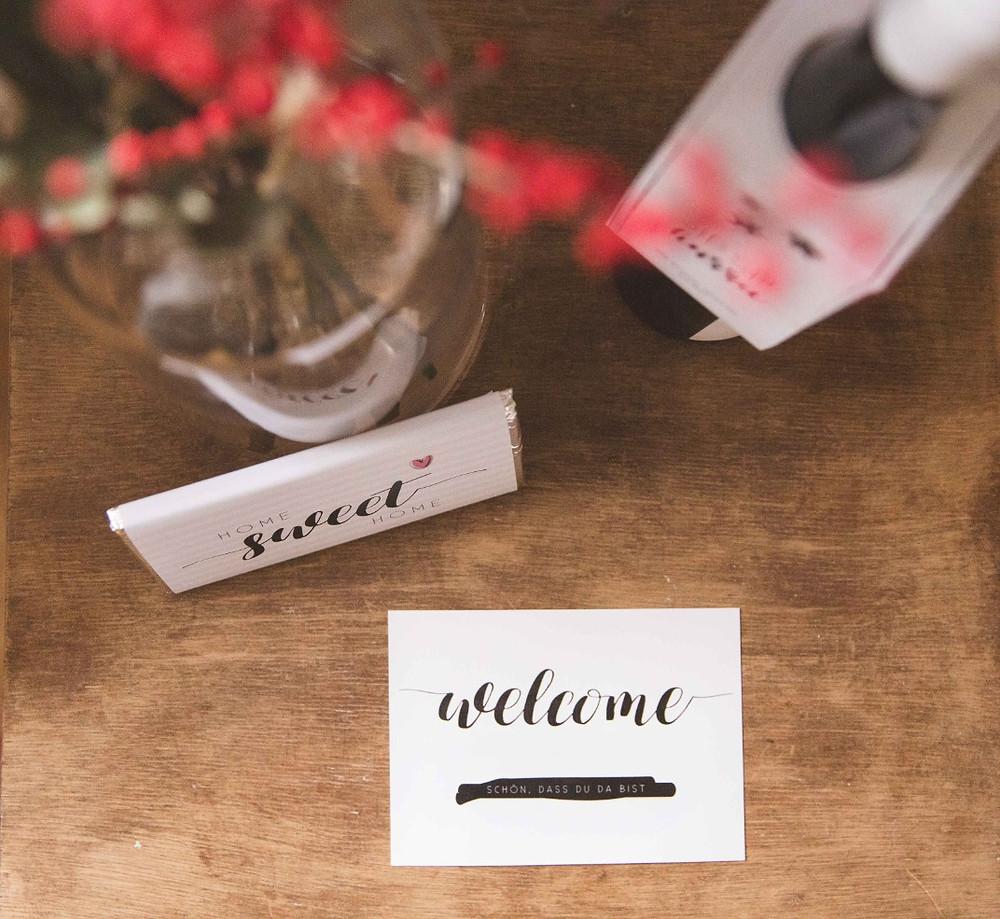 DIY, Tutorial, Willkommensgeschenk, Gästegeschenk, Willkommen, Gästezimmerdeko, Deko, Freebies, Printables