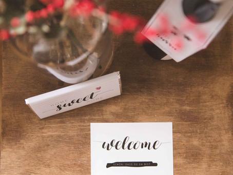 Welcome-Package für Gäste // FREEBIES