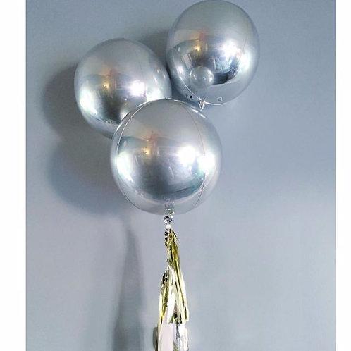 Runder Riesen-Ballon, silber