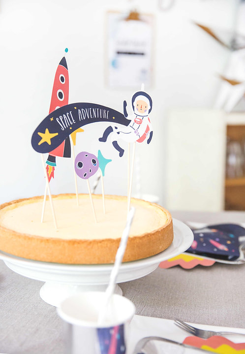 Cake Topper, Weltraum, Space Party, Mottogeburtstag, Themengeburtstag, Kindergeburtstag, Weltraum Party, Astronauten Party