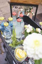 mobile Bar, Sektempfang,  Standesamt, standesamtliche Trauung, Mandlstraße, Gin Tonic, Lillet Wild Berry, Snacks, Pop up Bar