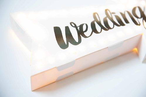 Leuchtschild, Marquees Sign, Pfeil, Wedding, Hochzeit, Hochzeitsdeko, Vintage, leuchtend