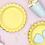 Partygeschirr, Pappteller, Einweggeschirr, gelb, Mottoparty, Kindergeburtstag, Themengeburtstag