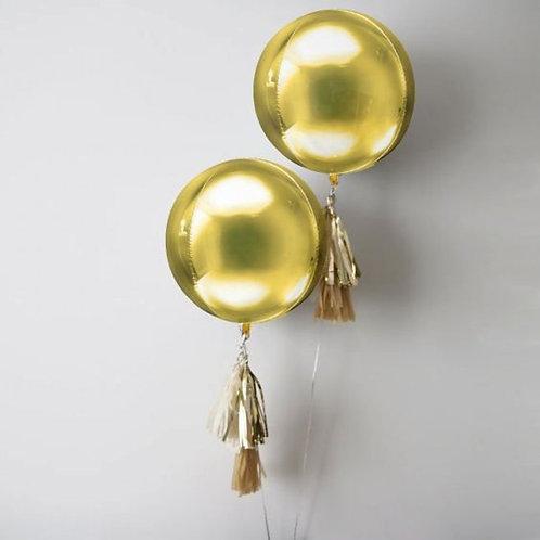 Runder Riesen-Ballon, gold
