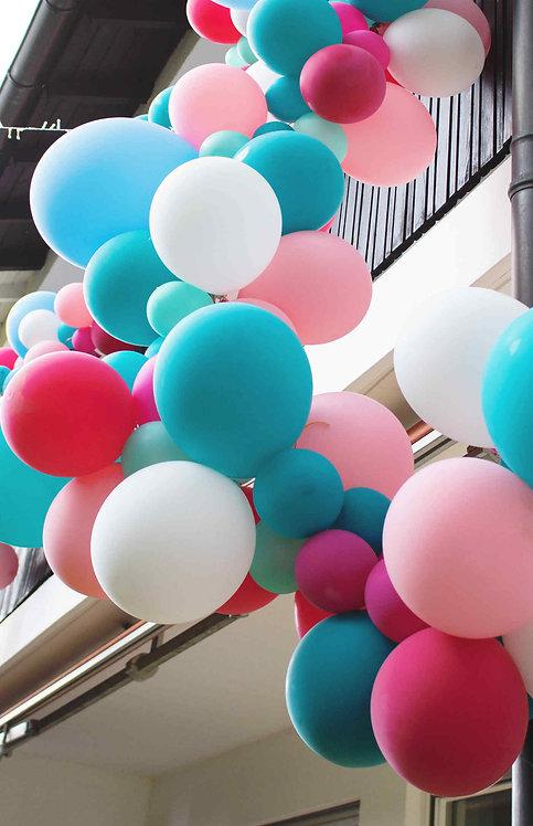 Ballongirlande, Ballonarche, Luftballons, Latexballons, Ballon, Geburtstagsdeko, Partydeko
