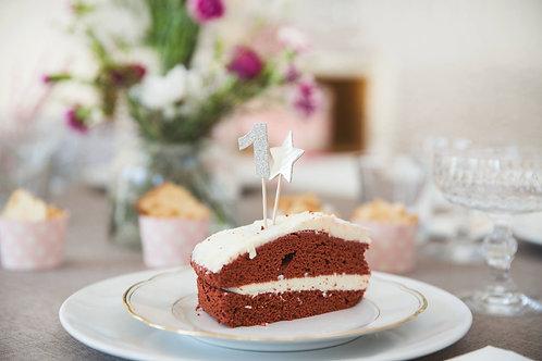 Cake Topper, Miss Etoile, Zahlen, Geburstagscountdown, Geburtstagsdeko, Zahlen für Geburtstagskuchen