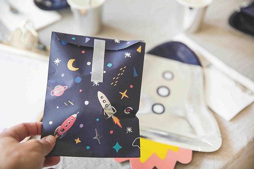 Space Party, Astronauten Geburtstags, Geburtstagsdeko, Kindergeburtstag, Goodie Bags, Geschentütchen, Raketen