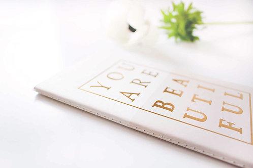 Notizbuch, Büchlein, Geschenkidee, Beautiful, Golddruck, My Minds Eye