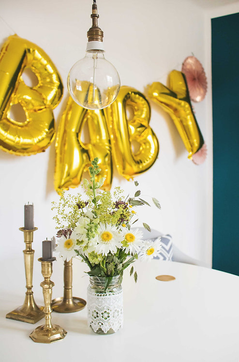 BABY, Folienballons, gold, Baby Party, Partydeko, Baby Shower