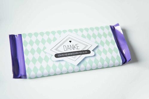 Schokolade mit personalisierter Banderole