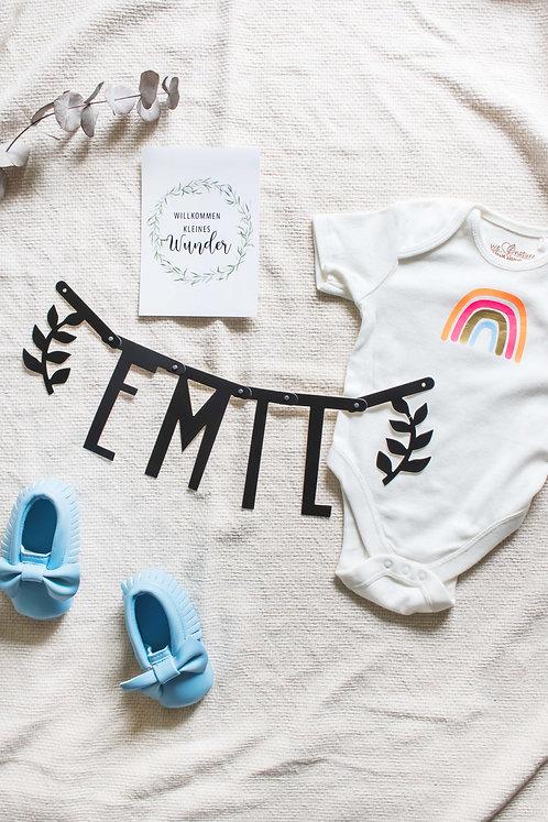 Newborn, Geschenkidee, Geburtsgeschenk, Geschenk zur Geburt, Hello World, Babygeschenk, personalisiert, Junge