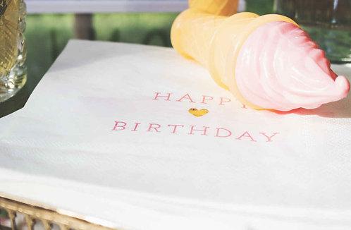 Geburtstagsfeier, Deko, Servietten, Happy Birthday, Kindergeburtstag, Geburtstagsdeko