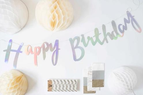 """Ich bin eine """"Silver-White Birthday Party""""-BOX"""