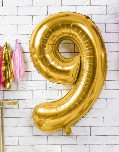 "Folienballon ""9"", gold"