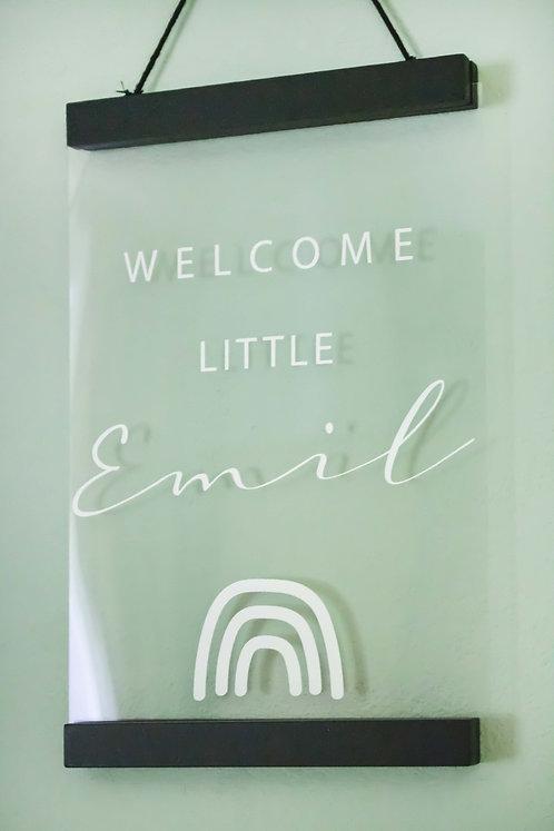 Acrylposter, Geschenke, Geburt, Newborn, Geburtsgeschenk, personalisiert, Kinderzimmer, Kidsroom