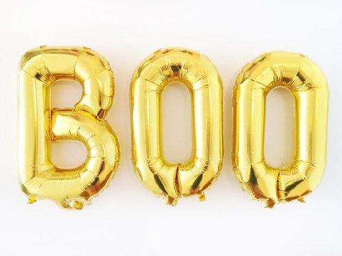 BOO, Halloweendeko, Deko, Folienballons, gold, Ballons, Helium, Ballonkit