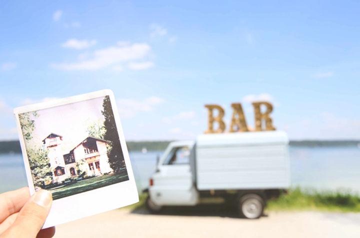 Sektempfang, Starnberger See, Standesamt, Kirche, Hochzeit, mobile Bar, Sektempfang Hochzeit, Bayern, München, Ape