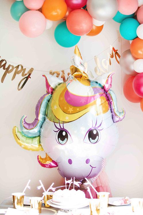 Folienballon, Heliumballon, Einhorn, Einhornparty, Unicorn, Kindergeburtstag, Mottoparty, Partydeko, Kinderdeko