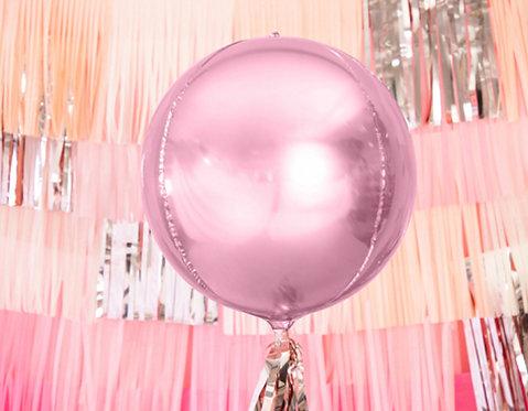 Folienballon, Heliumballon, runder Ballon, rosa, glänzend, Riesenballon