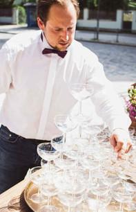 Horst, Sektempfang, Horst on Tour, Hochzeit, mobile Bar, Pop up Bar, Foodtruck, Barkeeper, München, Standesamt, Kirche