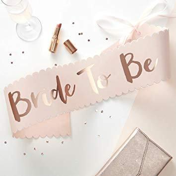 Bride to Be, Schärpe, JGA, Junggesellinnenabschied, Braut Party, Bridal Shower
