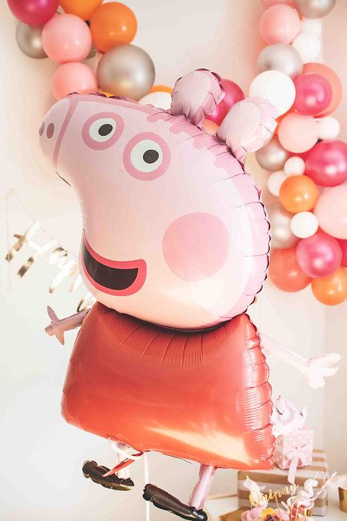 Peppa Wutz, Folienballon, Heliumballn,, Peppa Pig, Partydeko, Kindergeburtstag, Mottoparty, Peppa Wutz Party