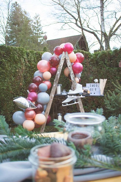 Ballongirlande, grau, bordeaux, blush, pfirsich, blush, Ballonbogen, Ballons, Luftballon, Deko