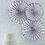 Thumbnail: Faltrosetten, silber/weiß