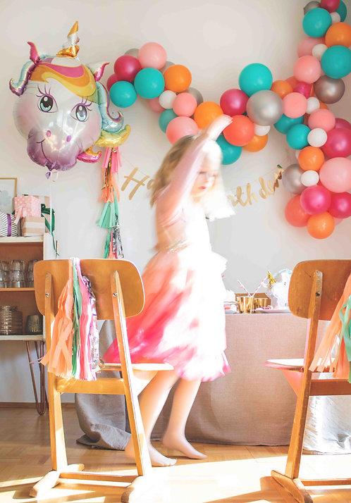 Einhorn Party, Mottoparty, Kindergeburtstag, Geburtstagsdeko, Unicorn Party, Mädchen Geburtstag