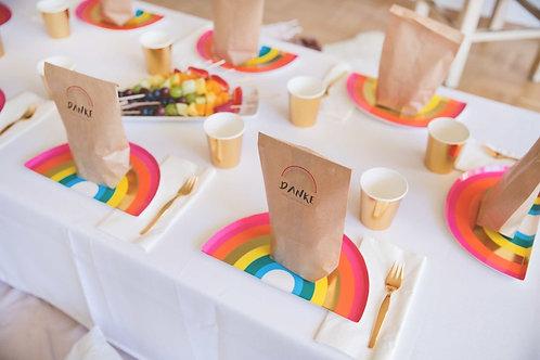 Rainbow Party, Kindergeburtstag, Mottoparty, Geburtstagsdeko, Einhorn-Party, Regenbogen