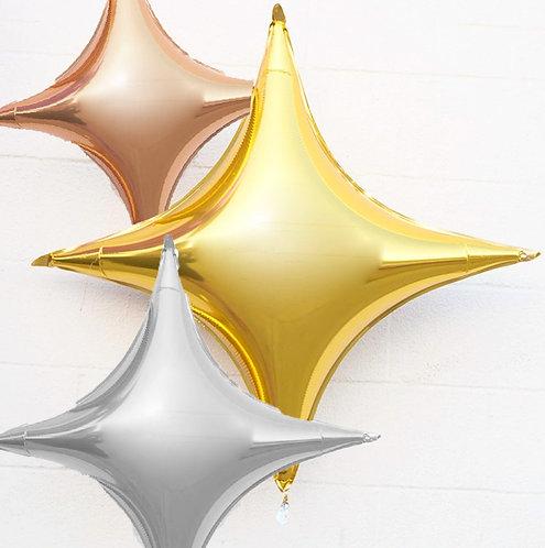 Starpoint Folienballon, silber, gold, rosé