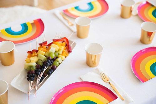 Einhorn-Party, Unicorn, Mottoparty, Themengeburtstag, Pappteller, Regenbogen, Rainbow
